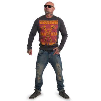 Yakuza Herren Pullover Sweatshirt Sword PB 14013 ebony blau online kaufen