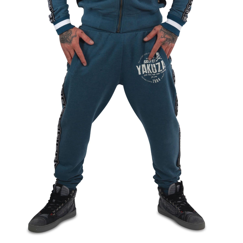 Yakuza Herren Jogginghose Bad Side JOB 14030 mallard blue blau