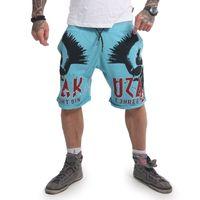 Yakuza Herren Jogger Sweat Shorts Dead Punk SSB 14033 maui blue blau 001