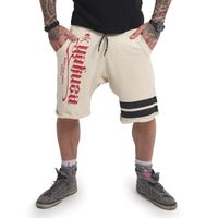 Yakuza Herren Jogger Sweat Shorts Scrap Town SSB 14035 bone white beige 001