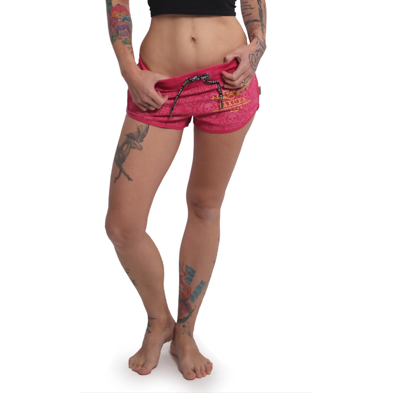 Yakuza Damen Sweat Shorts Crests GSSB 14130 rose red rosa