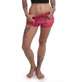 Yakuza Damen Sweat Shorts Crests GSSB 14130 rose red rosa