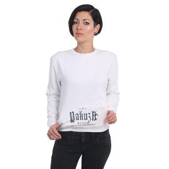 Yakuza Damen Pullover B.I.T.C.H. Sweater GPB 14117 weiß