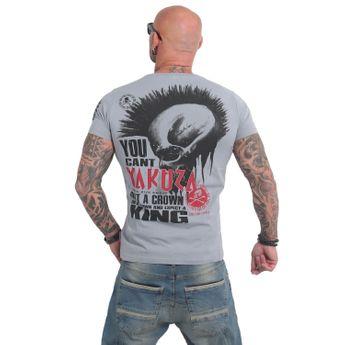 Yakuza Herren T-Shirt Dead Punk TSB 14047 monument grau
