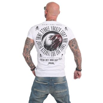 Yakuza Herren T-Shirt Bad Side TSB 14049 weiß