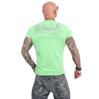 Yakuza Herren T-Shirt Never Stop Label TSB 14060 summer green grün