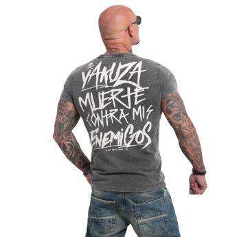 Yakuza Herren T-Shirt Enemigos Acid TSB 14081 schwarz