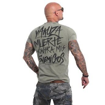 Yakuza Herren T-Shirt Enemigos Acid TSB 14081 burnt olive