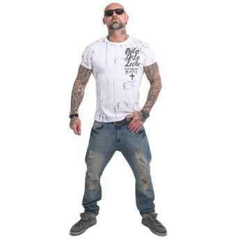 Yakuza Herren T-Shirt Puta De La Leche TSB 14050 weiß online kaufen
