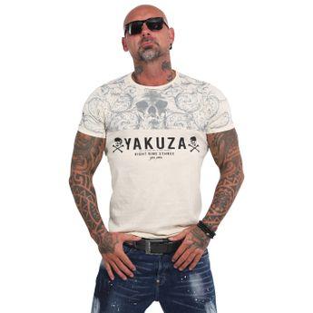 Yakuza Herren T-Shirt Ornamentic Skull TSB 14054 afterglow natur