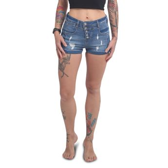 Yakuza Damen Jeans Shorts Fly GJEB 14172 medium havoc blau