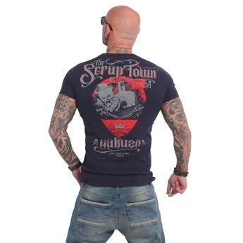 Yakuza Herren T-Shirt Scrap Town TSB 14052 parisian night blau