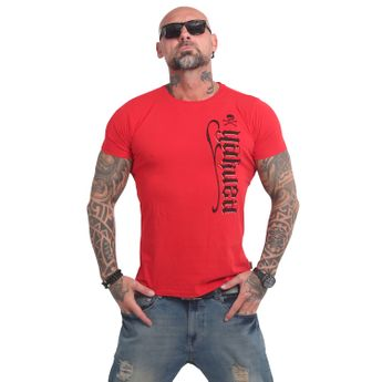 Yakuza Herren T-Shirt Scrap Town TSB 14052 ribbon red rot online kaufen