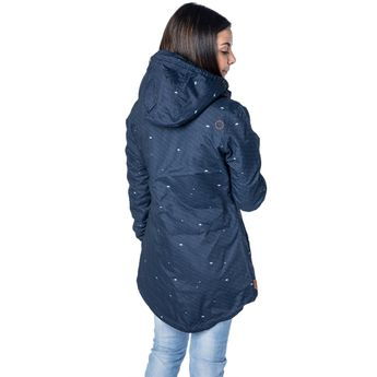 Alife and Kickin Damen Mantel Jacke Lilou nightblue AOP blau online kaufen