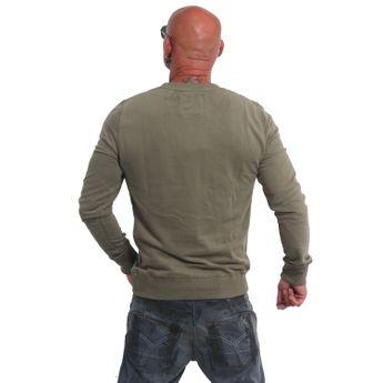 Yakuza Herren Pullover Sweatshirt Basic Line EMB Crew PB 14074 dark oliv online kaufen