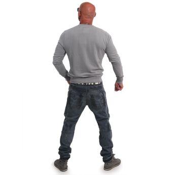 Yakuza Herren Pullover Sweatshirt Basic Line 4W Crew PB 14074 monument grau online kaufen