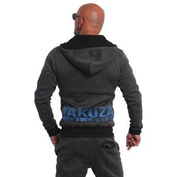 Yakuza Herren Kapuzenjacke Limitless S&F Sport Zip Hoodie HZB 14501 schwarz