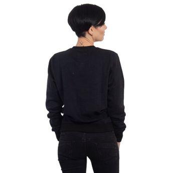 Yakuza Damen Pullover Basic Line Script Sweater GPB 14140 schwarz online kaufen