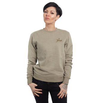 Yakuza Damen Pullover Basic Line Script Sweater GPB 14140 boa oliv