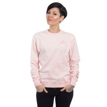Yakuza Damen Pullover Basic Line Script Sweater GPB 14140 crystal pink
