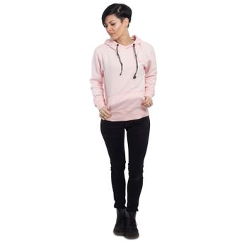 Yakuza Damen Kapuzenpullover Basic Line Script Hoodie GHOB 14138 crystal pink rosa online kaufen