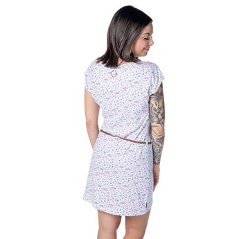 Alife and Kickin Damen Kleid Elli B Dress cloudy coast weiß online kaufen
