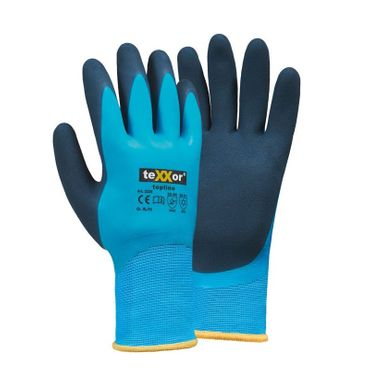 teXXor 2228 Winterhandschuh Latex -blau- vollbeschichtet, wasserdicht