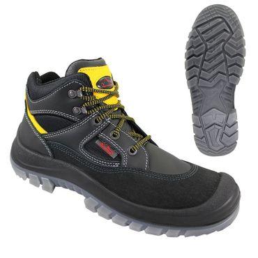 TIBET Sicherheitsschuhe schwarz/gelb -REMISBERG- S3 Schuhe Arbeitsschutzschuhe