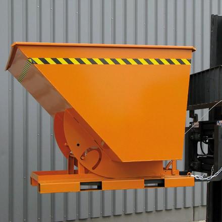 Eichinger Kippbehälter 600L in hoher Bauhöhe mit und quer zur Fahrtrichtung kippbar