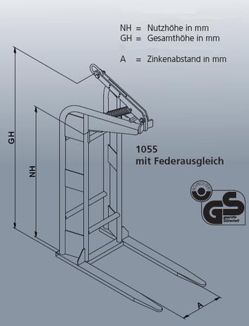 Eichinger Ladegabel 1055 stufenlos manuell verstellbar – Bild 2