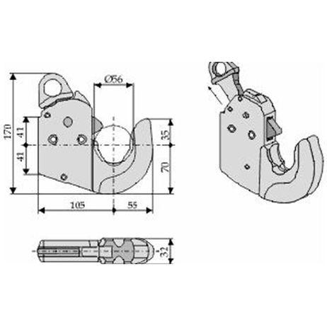 CBM Unterlenker Fanghaken automatisch - bis 66 kW / 90 PS - Kat. 2 L – Bild 3