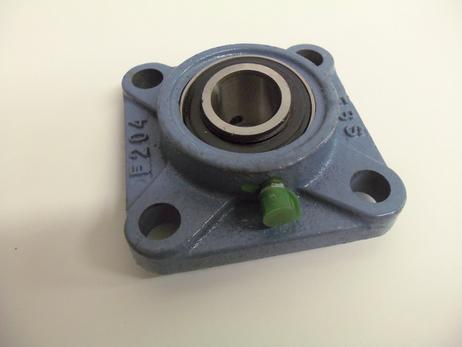 Flanschlager UCF 206 kpl. quadratisch mit Gußgehäuse für 30 mm Welle