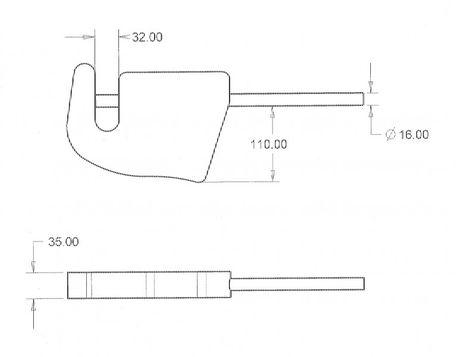 Haken für Geräteaufnahme Anschweißhaken für Frontlader rechts und links verwendbar – Bild 3