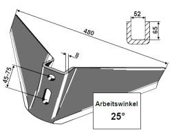 Frank Flügelschar Monobloc einteilig 480mm