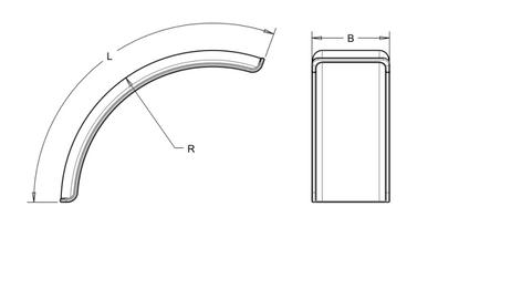 Kotflügel aus Kunststoff für Schlepper Vorderrad 470 x 1300 mm Radius 780mm – Bild 2