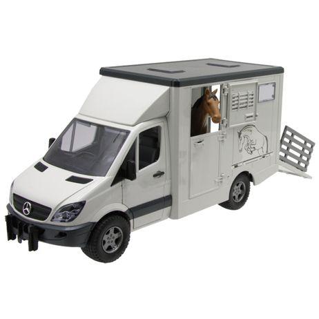 02533 Bruder MB Sprinter  Tiertransporter Profi Serie für Innen und Außen
