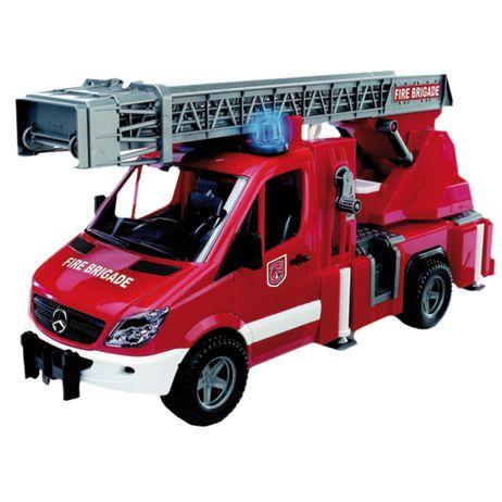02532 Bruder Mercedes Benz Sprinter Feuerwehr für Innen und Außen Profi Serie
