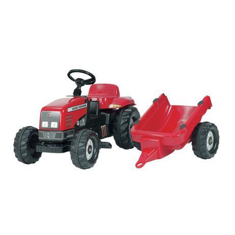 012305 Rolly Toys Massey Ferguson mit Kid Trailer aufklappbare Motorhaube