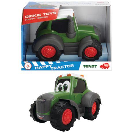 3814008 Dickie Happy Fendt Traktor ab 12 Monaten,  Freilauf, 25 cm,  grün