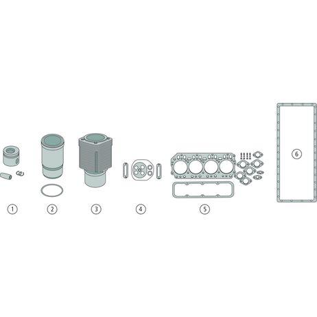 Motorreparatursatz Satz bestehend aus 1, 2, 5, 6 Abmessung Kolbensatz siehe Seite 836 D 179