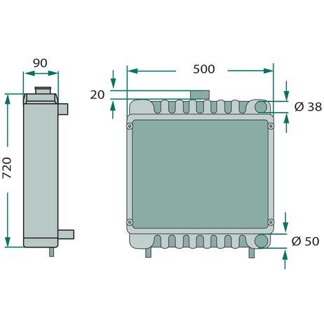Kühler Vergleichsnummer: AL37568, AL31237 für verschiedene Schleppertypen  – Bild 2