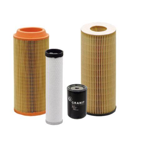Filtersatz Satz bestehend aus Motorölfilter Kraftstoff-Hauptfilter Haupt-Luftfilter Hydrauliköl-Filter Steyr 968, 975 (MWM Motor)