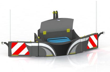 Safetyweight Unterfahrschutz Frontgewicht mit LED-Streifen 600-1.100 kg