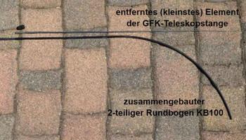 Rundbogen-Aufsatz KB100 für den GEBOGENEN Aufzug der Balifahne – Bild 3