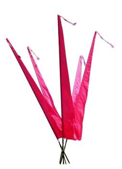 Balifahnen-Stoff NUSA DUA mit Rauten-Spitze, verschiedene Farben und Längen, Balifahne, Bali Flag, Gartenfahnen – Bild 13