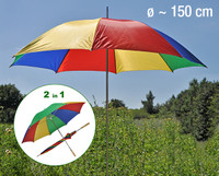 bunter Sonnenschirm, 150 cm Durchmesser, ca. 180 cm Höhe