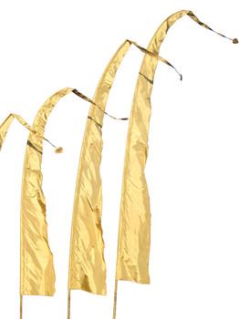 Balifahnen-Stoff SANUR mit herzförmiger Spitze, verschiedene Farben und Längen, Balifahne, Bali Flag, Gartenfahnen – Bild 8