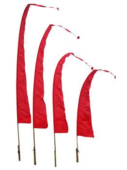 Balifahnen-Stoff SANUR mit herzförmiger Spitze, verschiedene Farben und Längen, Balifahne, Bali Flag, Gartenfahnen – Bild 10