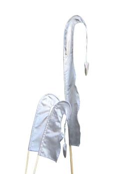 Balifahne LITTLE SANUR mit Holzstange, mit herzförmiger Spitze, verschiedene Farben und Längen – Bild 3