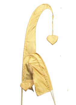 Balifahne LITTLE SANUR mit Holzstange, mit herzförmiger Spitze, verschiedene Farben und Längen – Bild 8